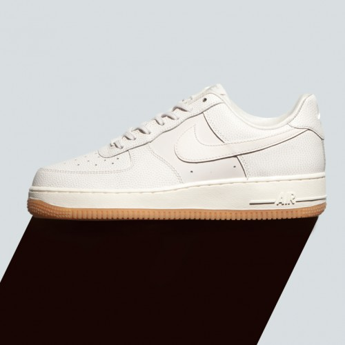 New women's nike air force one in stone leather