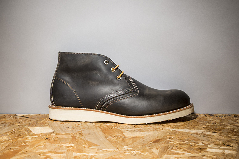 red wing grey 3 tie chukka boots