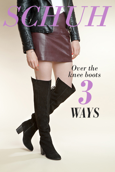 how to wear over the knee boots 3 ways on schuh blog