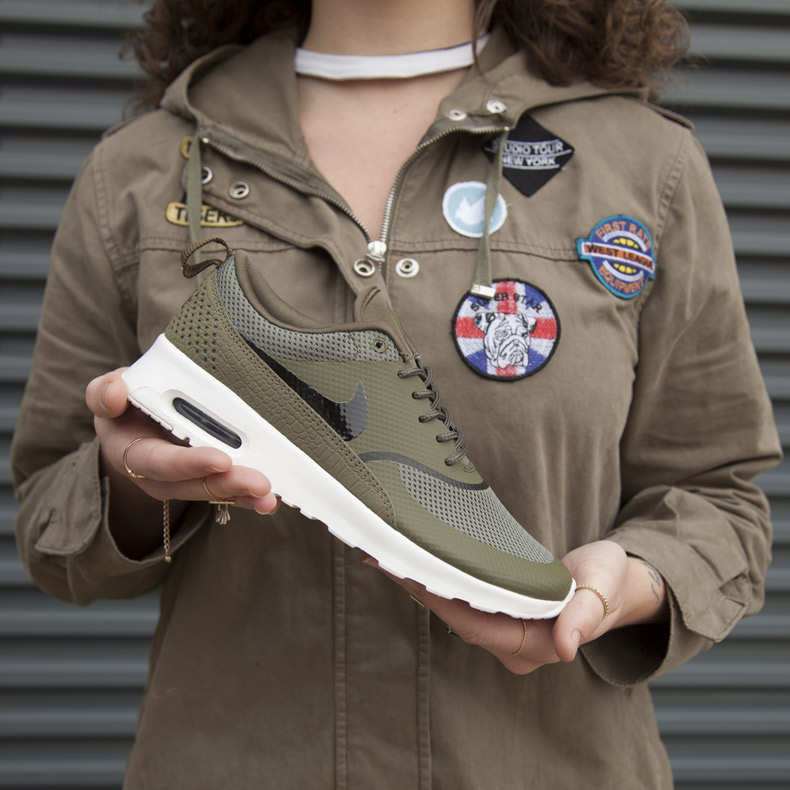 womens khaki nike air max thea trainers at schuh