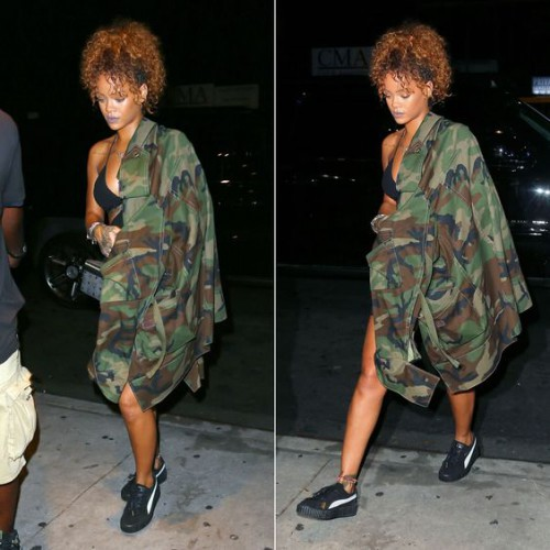 Rihanna in Creepers