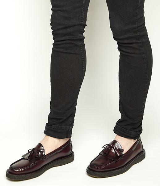 bass burgandy layton crepe shoes