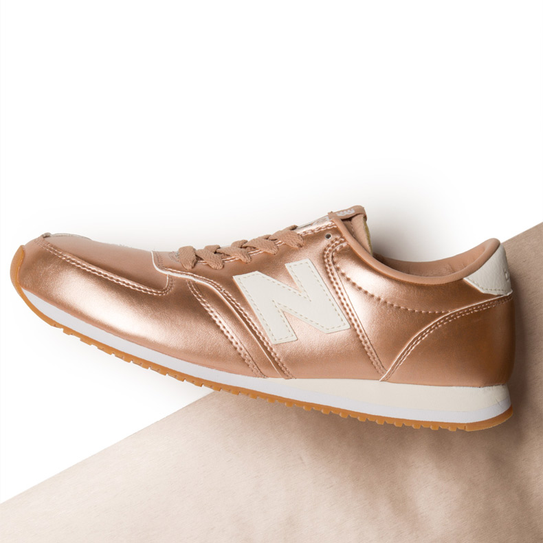 womens rose gold new balance 420 trainers at schuh