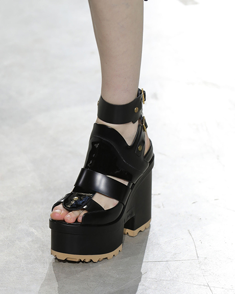 Sacai platform chunky shoes