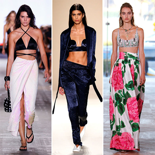 Three models wearing the bralet trend