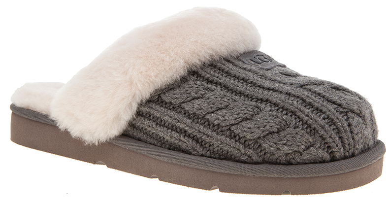 UGG Cozy Knit slippers in grey cable
