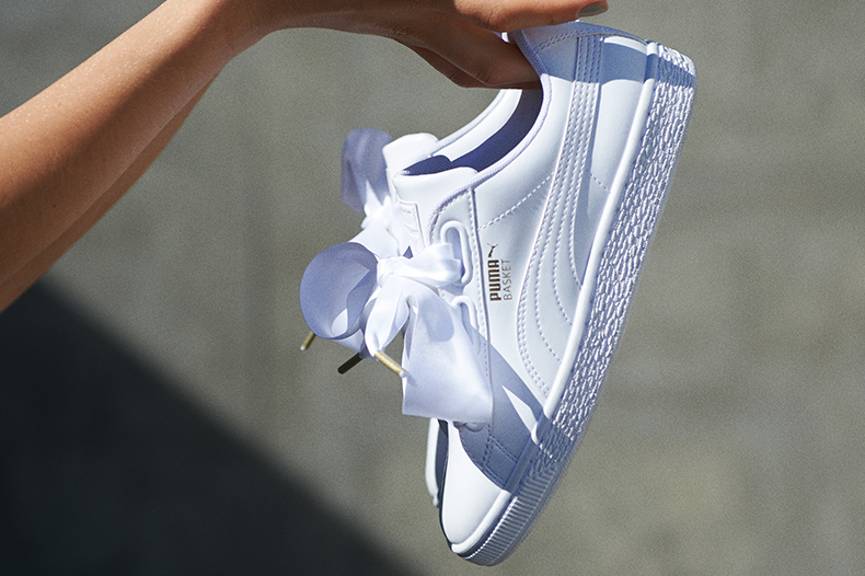 36eab528665b28 womens white puma basket heart patent white trainers at schuh
