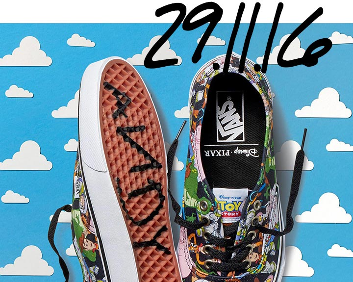 schuh drop dates vans disney pixar toy story trainers launch
