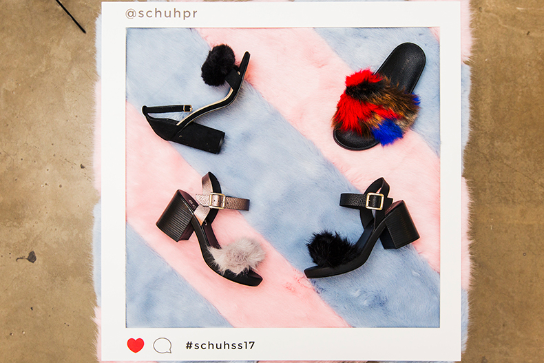 schuh fluffy heels and sliders