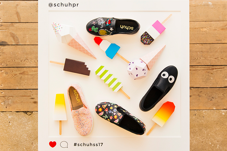 Selection of slip on trainers with ice lollies