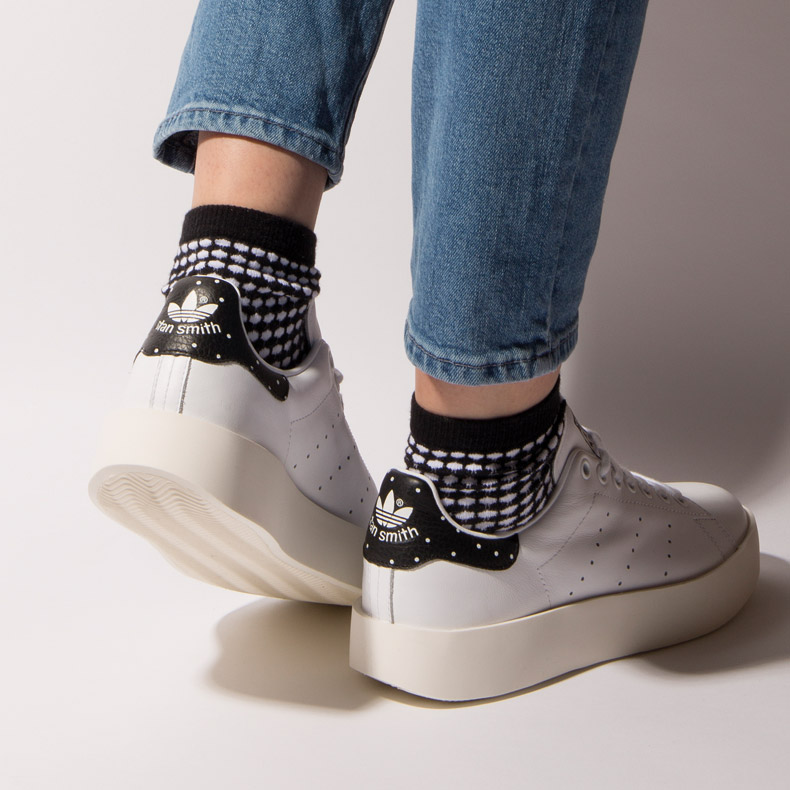 adidas Stan Smith Bold with flatform heel and dot accents