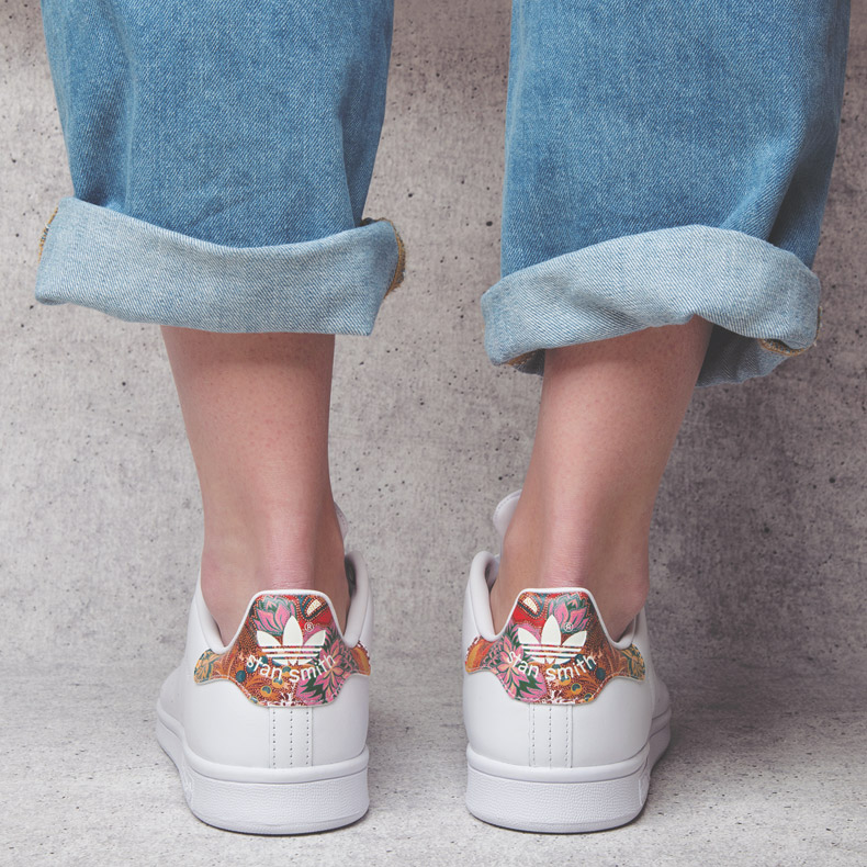 adidas Stan Smith with floral accent on back