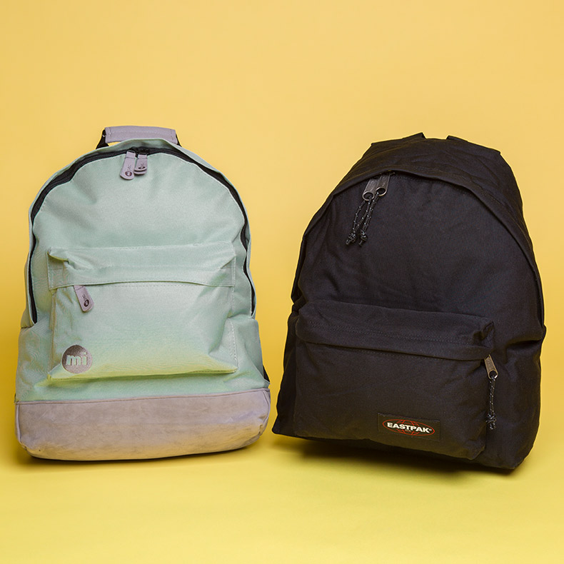 micpac classic backpack and eastpak padded pakr backpack at schuh