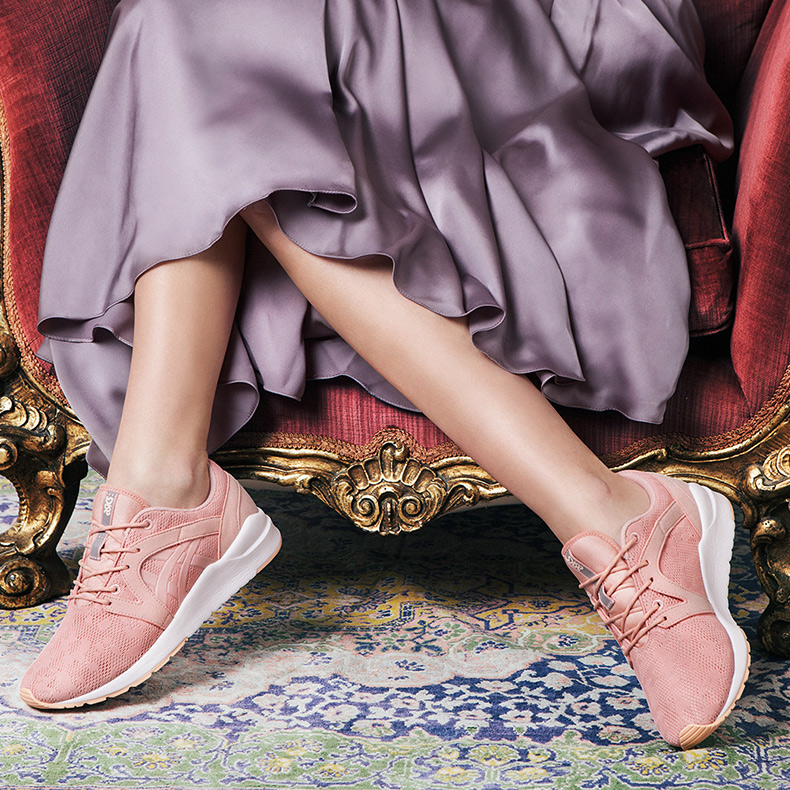 womens asics tiger gel lyte komachi trainers in pale pink at schuh