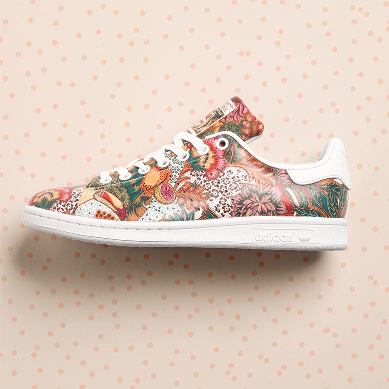 adidas Stan Smith with all-over tropical floral print 7c7836a42