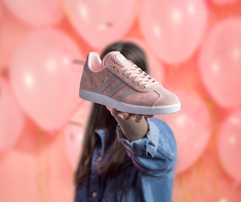womens adidas gazelle suede trainers in pale pink at schuh