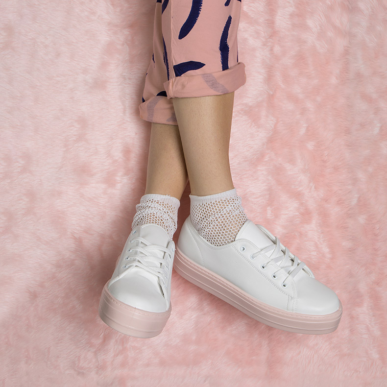 womens white and pink flatforms on the schuh blog