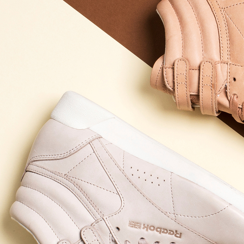 Comp image of Reebok Freestyle Hi 35 in stone and natural colours