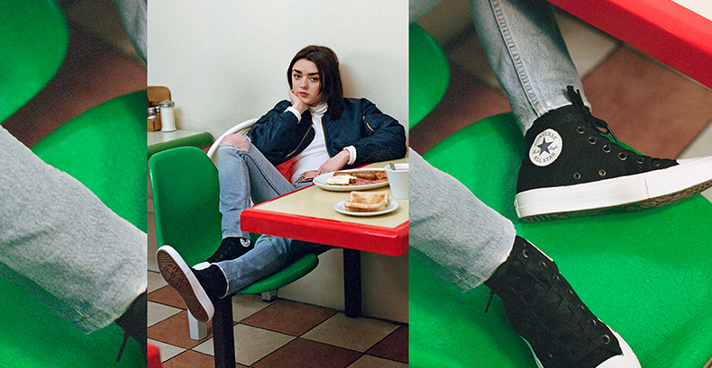 maisie williams converse chuck ii trainers
