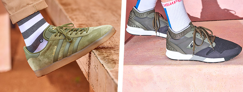 Comp image of khaki gazelle and khaki LCS trainer