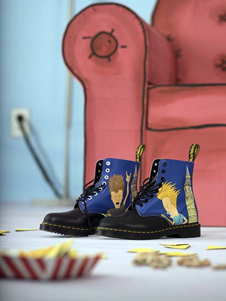 dr martens beavis butt head mtv black blue