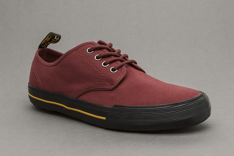 Dr Martens Pressler Canvas in Burgundy