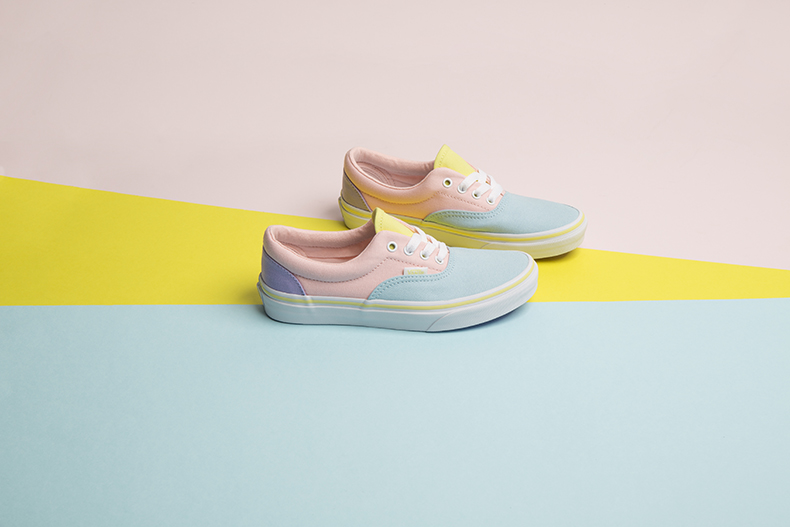 kids pale blue and pink vans new era trainers at schuh
