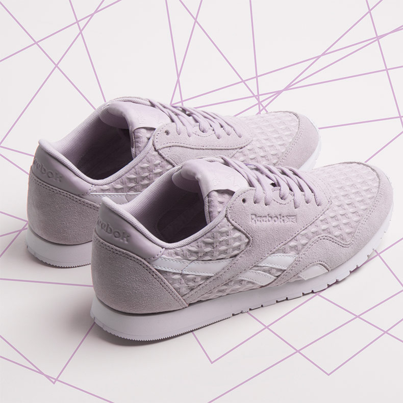 womens lilac reebok classic nylon trainers at schuh