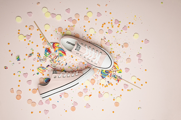 womens pale pink converse all star leather ox trainers at schuh