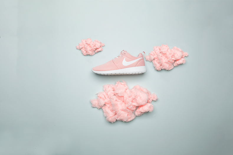 womens pale pink nike roshe one trainers at schuh