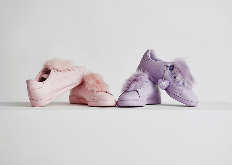 womens reebok classic x local heroes npc ii trainers in lilac and pale pink at schuh