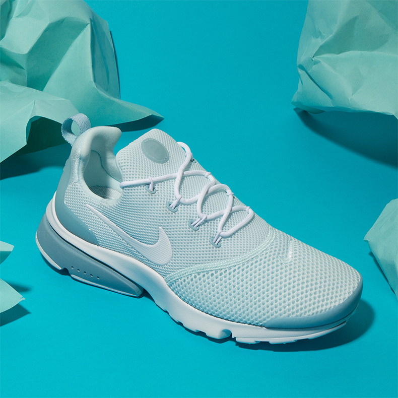 nike presto fly light blue trainers