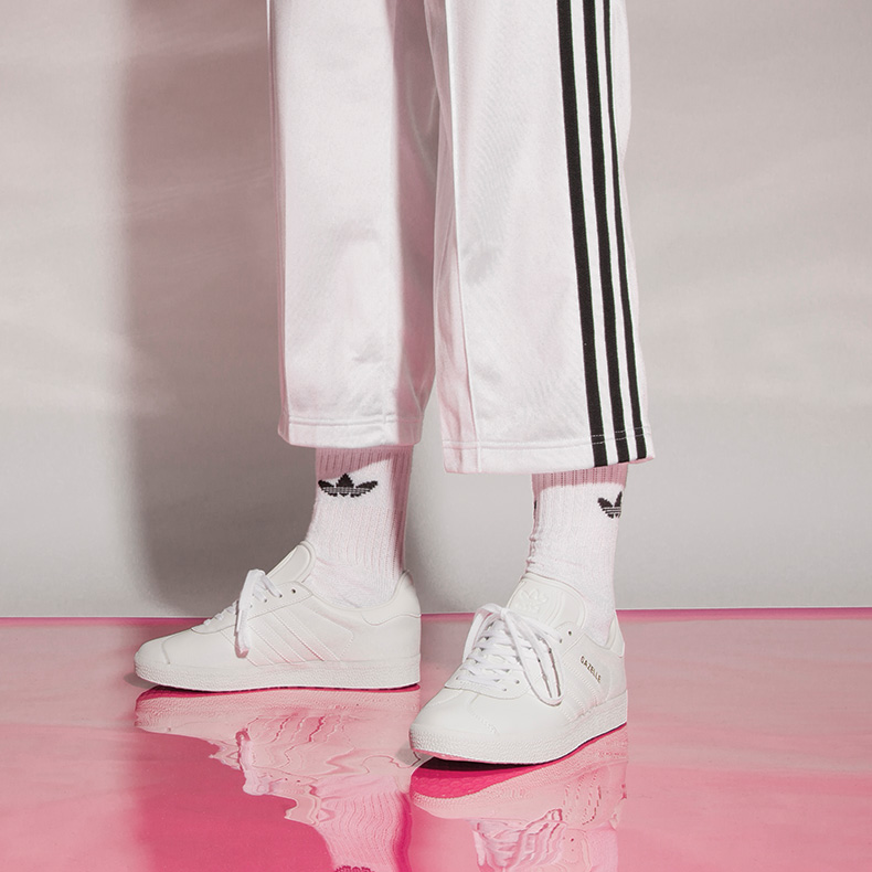 adidas gazelle brand matching with socks and track bottoms