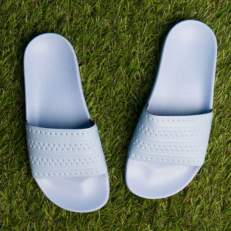 adidas adilette sandals in pale blue