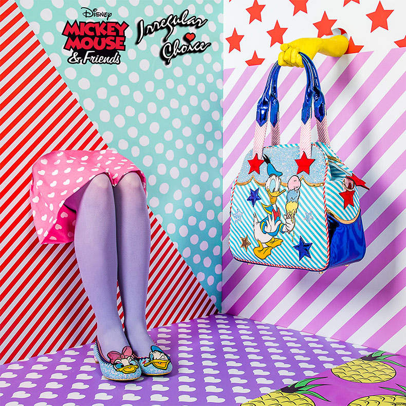 irregular choice x mickey mouse and friends bag and heels teaser two