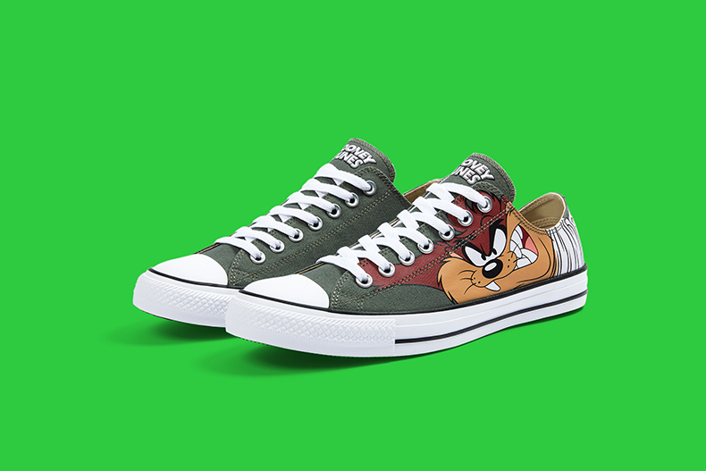 Tasmanian devil converse looney tunes low top