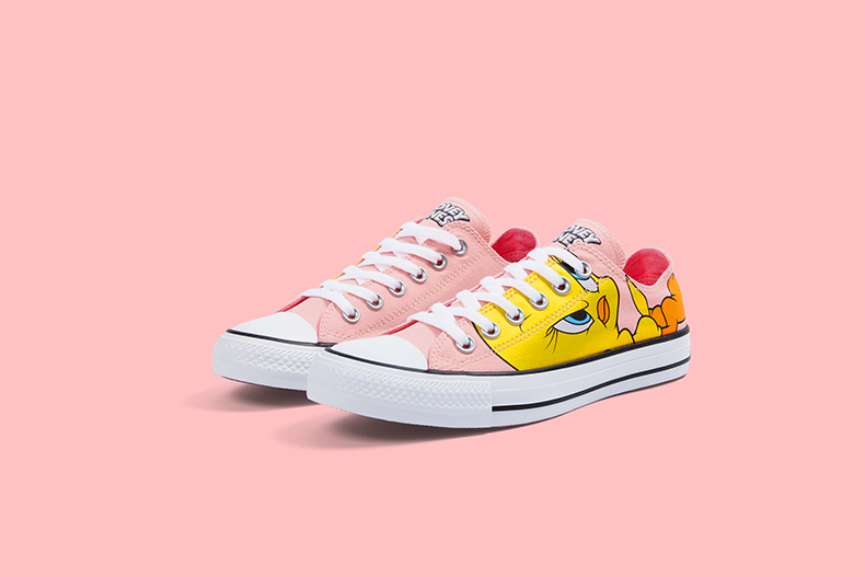 tweety pie converse looney tunes low top