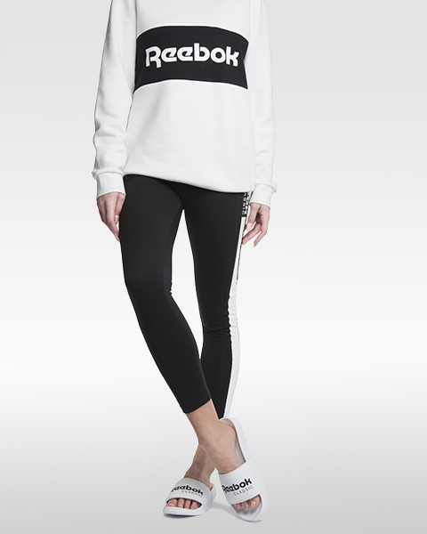 reebok classic slides with reebok sweatshirt