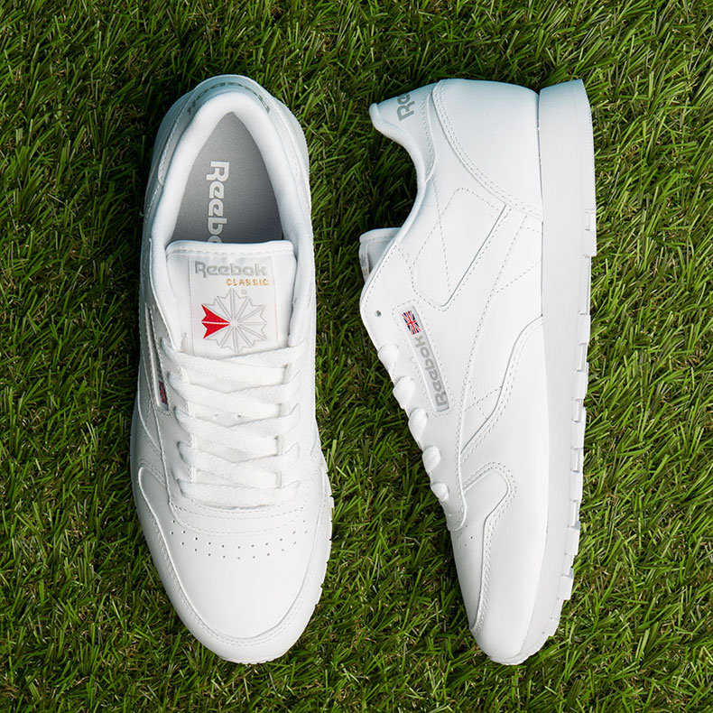 Reebok classic in white leather