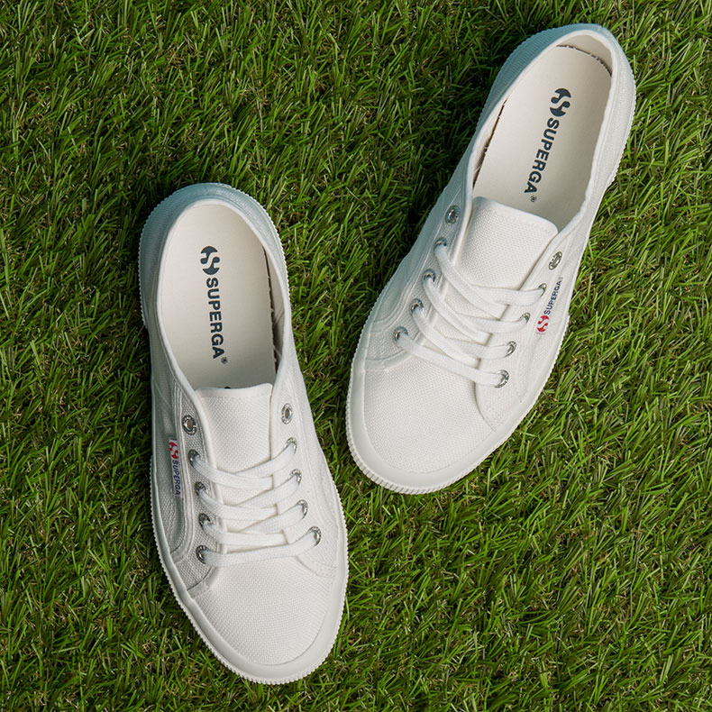 superga cotton trainers in white