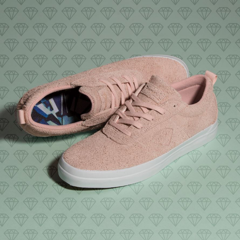 diamond supply co mens pink trainers