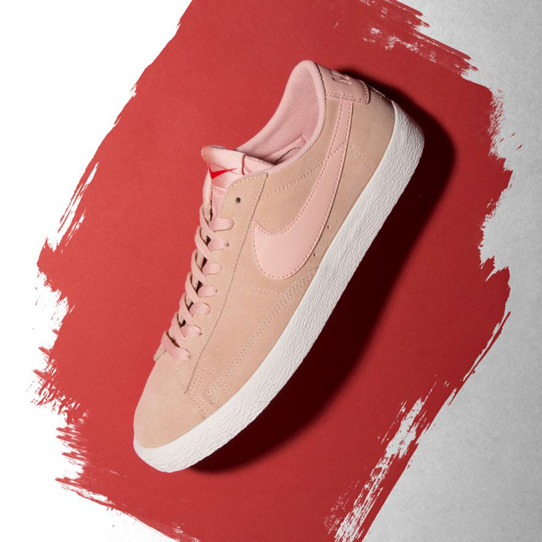 nike blazer pink mens trainers