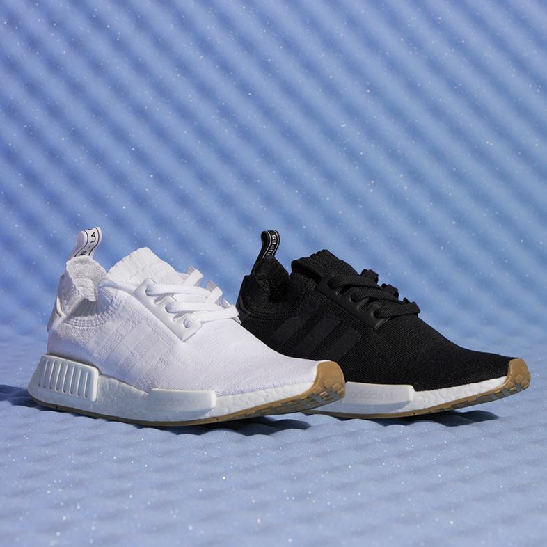 adidas nmd black and white primeknit trainers