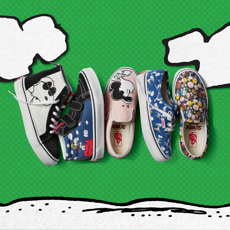 Vans peanuts youth collection