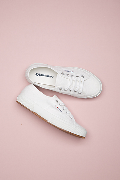 Superga 2750 in white cotton
