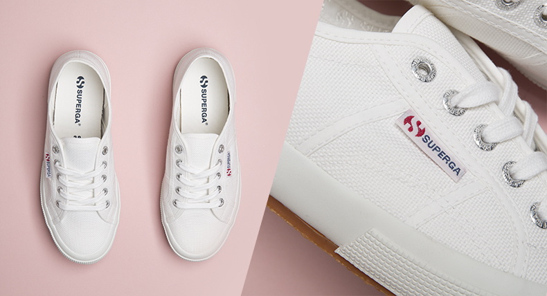 Header image with white superga 2750