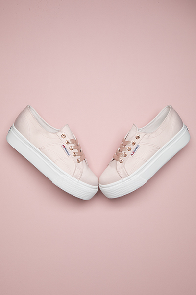 Superga flatform in pink