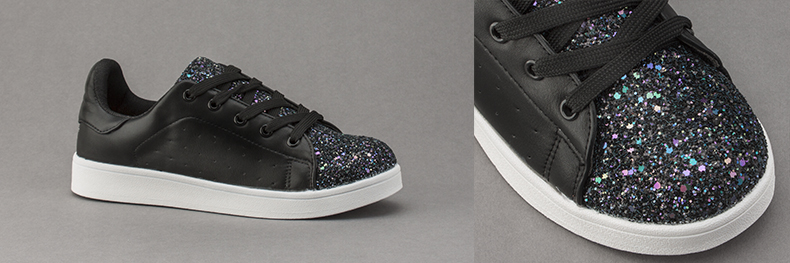 womens schuh glitter miracle trainers in black