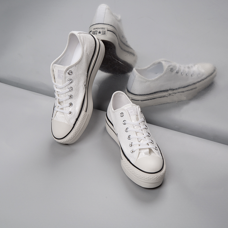 converse all star ox platform white