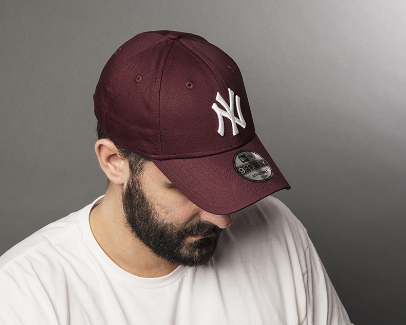 new era burgundy 9forty baseball caps